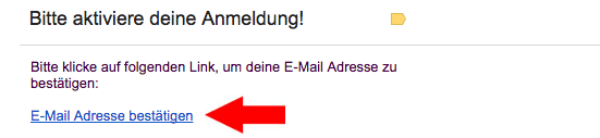 Email bestätigen